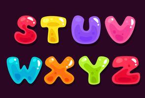 Gelé färgglada alfabeter del 3 vektor