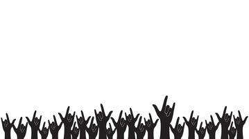Hände hoch Liebe Zeichen und Hintergrund Vektor