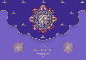 Hochzeits- oder Einladungskartenweinleseart mit abstraktem Musterhintergrund der Kristalle vektor