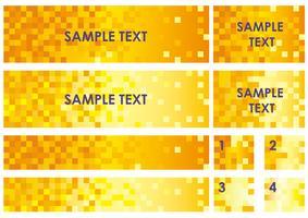 Sats av diverse banderoller / bakgrunder med polygonstruktur. vektor