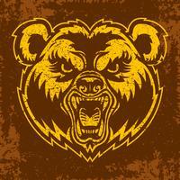 Bear Angry Face tecknad film
