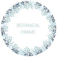 Botanisk cirkel bakgrund / ram med text utrymme.