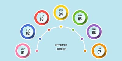 Halbkreisdiagramm, Infografik Timeline-Vorlagen vektor
