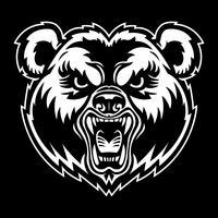 Bärn-verärgerter Gesichtskarikatur