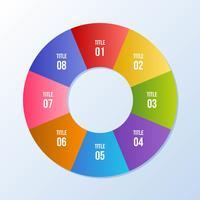 Cirkeldiagram, cirkel infografiskt eller cirkulärt diagram vektor