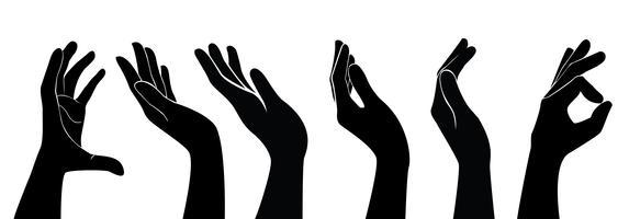 uppsättning fri händer vektor