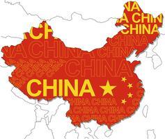 Karte von China.