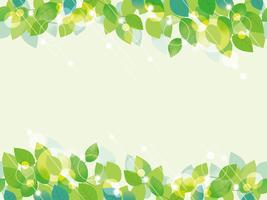 Nahtloses Grün lässt Hintergrund. vektor
