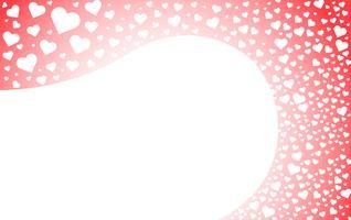 hjärtat av kärleksbakgrund vektor