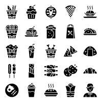 Snabbmat ikoner packa