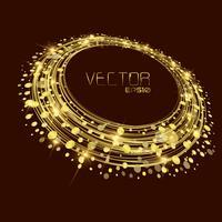 Goldener Kreishintergrundvektor Zusammenfassungs-Hintergrund vektor