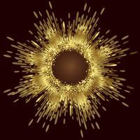 Goldener abstrakter Hintergrundvektor, abstrakter Hintergrund vektor