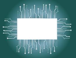 Mikrochip Box Hintergrund vektor