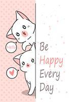 2 små katter säger hej.