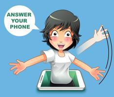 Svara på din telefon. vektor