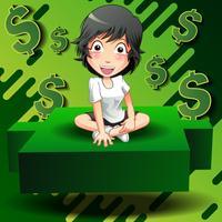 Investor sitzen auf grünen kerzenhalter.