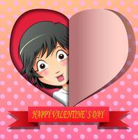 Glad alla hjärtans dag. vektor