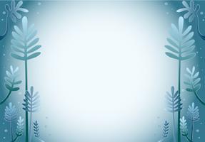 blauer Blattkarikatur-Designhintergrund