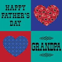 fars dag farfar med bandana hjärtan