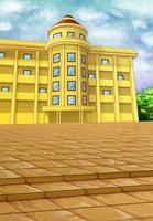 Ein Gebäude auf der Grundvektorgrafik.