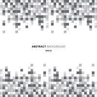 Abstrakter Titel- und Fußzeilengeometrischer Muster-Pixelhintergrund der weißen und grauen Quadrate mit Kopienraum.