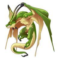 Drache ist Tier in Märchen. vektor