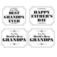 farfar fäder dag vit svart