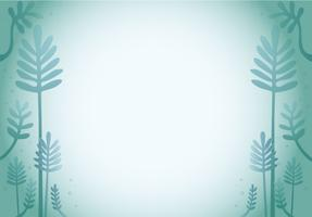 grön blad tecknad design bakgrund vektor