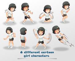 8 verschiedene Zeichentrickfiguren. vektor
