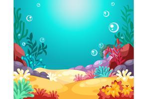 Schöne Unterwasserhintergrundvektorillustration