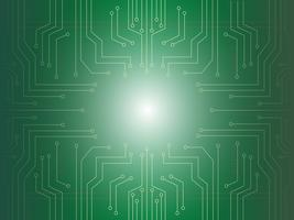 mikrochip ljus bakgrund vektor