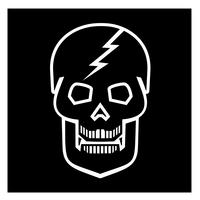 emblem med skalle vektor
