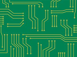 Mikrochip Cartoon Vektor Hintergrund