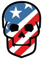 emblem med skalle