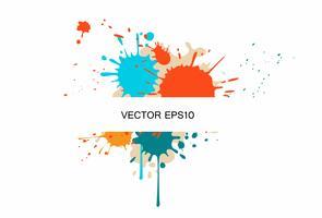 Geschäftsbroschüren-Schablone mit Farbe spritzt vektor
