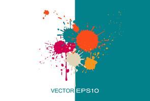 Stilvolle Broschüren-Schablone mit Farbspritzern vektor