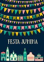 Lateinamerikanischer Feiertag, die Juni-Party von Brasilien. Festa Junina. vektor