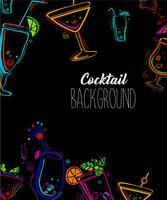 Cocktailparty-Vektor-Illustration. vektor