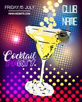 Cocktailparty affischdesign.