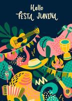 Lateinamerikanischer Feiertag, die Juni-Party von Brasilien. Festa Junina.