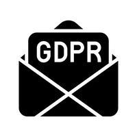 GDPR General Data Protection Regulation-Symbol, solider Stil vektor