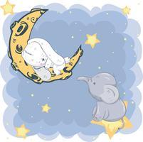 söt liten elefant