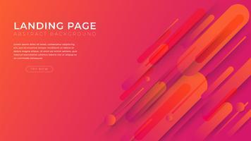 Minimale Formen und geometrischer Hintergrund Landing Page Template für Business-Website-Design.