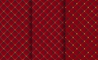 Satz abstrakter Luxushintergrund mit dem Goldthread-teuren Konzept dekorativ. vektor
