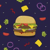 Burger-Sommer-Nahrungsmittelvektor