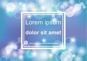 abstraktes bokeh blaues und helles Hintergrundvektordesign