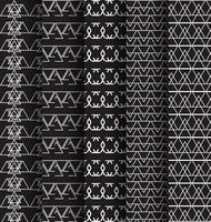 Abstact Muster Dreieck schwarz und weiß 5 Satz