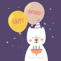 Alles- Gute zum Geburtstagtiergrußkarte vektor