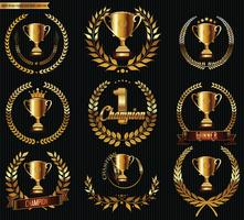 Trophäen-Embleme vektor