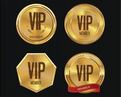Vip medlems guld märke samling
